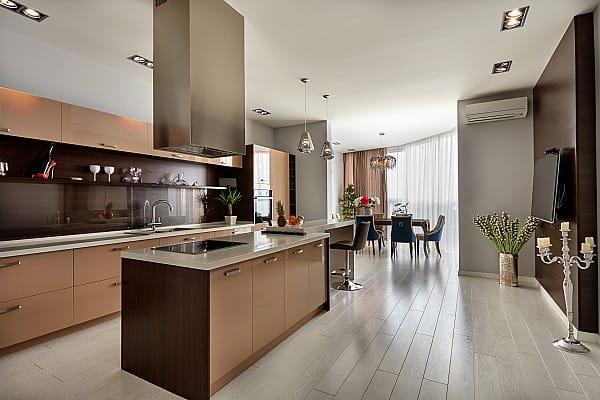 Wood imitation tile flooring image