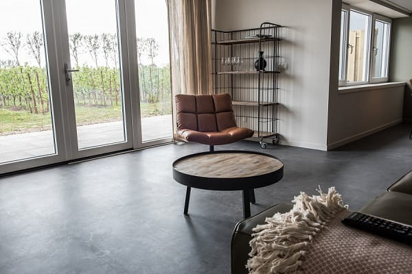 Black tile flooring image