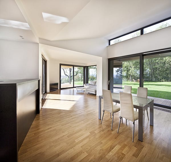Timber flooring in open space home image