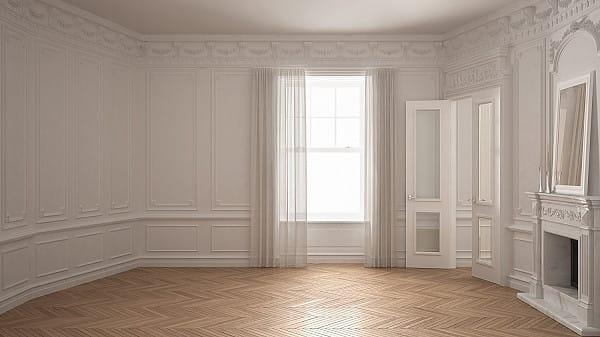 Parquet flooring, chevron pattern image