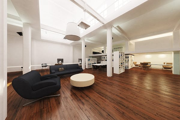 Timber flooring for office space image
