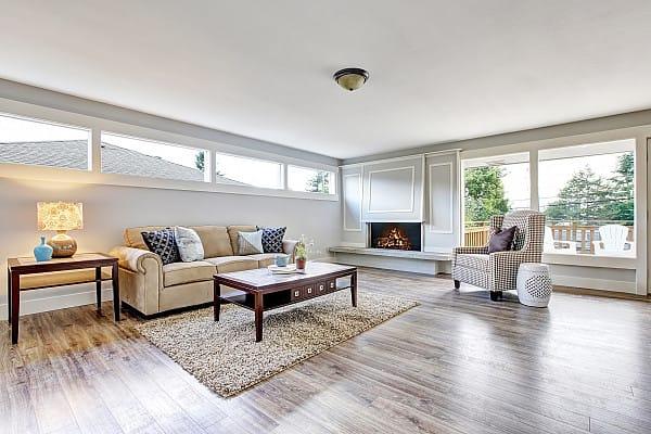 Vinyl planks flooring for a living room image