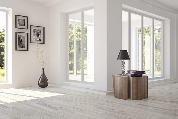 Tile flooring, grey oak imitation