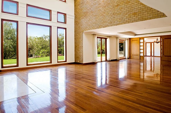 Sand and polished timber flooring image