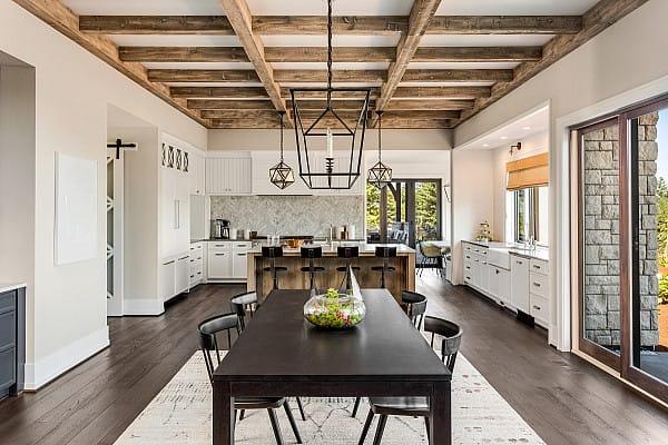 Dark oak flooring image