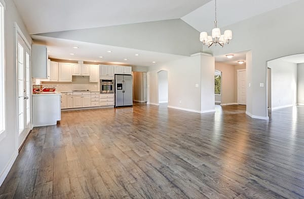 Vinyl flooring for open space home image