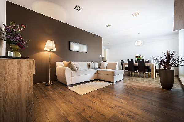 Wide laminate flooring image
