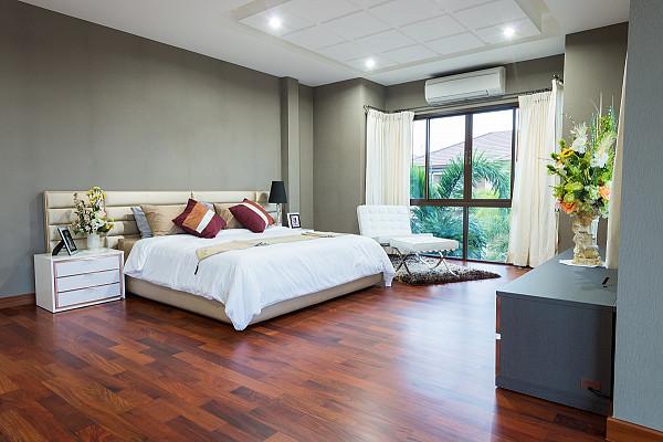 Laminate flooring in bedroom image