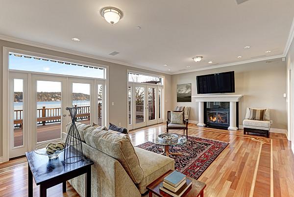Beautiful parquet flooring image
