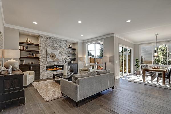 Engineered timber flooring image