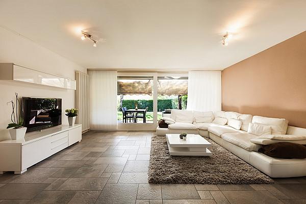 Tile flooring for the living room image