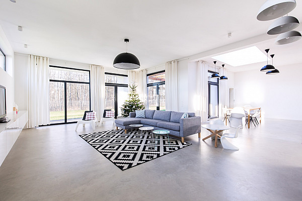 Concrete floor for home