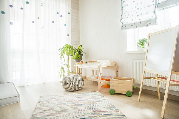 Laminate flooring for modern kids room image